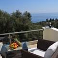 Veranda with pool and sea view